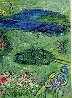 Lithograph by MARC CHAGALL- The Orchard Part 1