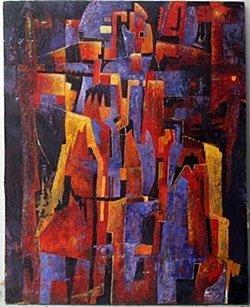Acrylic on Canvas by Paul Klee