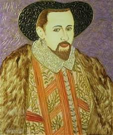 "Original Oil on Panel ""King James VI"" by William"