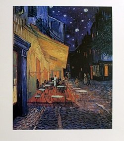 Print Café Terrace at Night - Vincent Van Gogh
