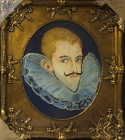"""Original Oil on Panel """"Henry the 3rd of Guise, King of"""