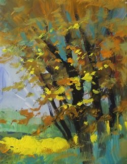 """Acrylic on Canvas  """"Colors of Fall"""" by Michael"""
