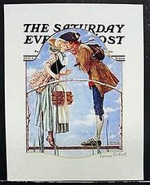 """Lithograph """"Milk Maid"""" after Norman Rockwell"""