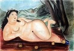 Ms Mariana  Pastel On Paper  Fernando Botero