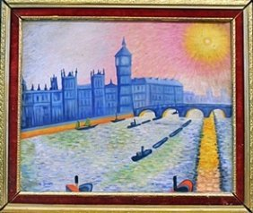Oil Painting On Canvas By Andre Derain