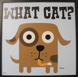 "Giclee On Canvas ""what Cat?"" After Todd Goldman"