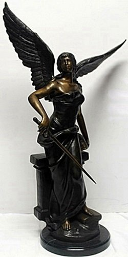 Bronze - Angel With Sword - A. Moreau