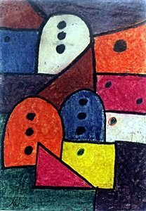 The Way To Hell 32' - Pastel On Paper - Paul Klee