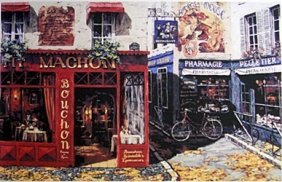 Lithograph - Autumn In Paris - Viktor Shvaiko