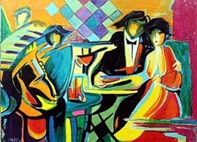 """the Jazz Club"" Giclee By Phillip Maxwell"