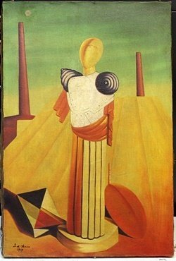 Oil Painting On Canvas By Giorgio De Chirico