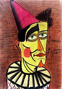 The Clown - Pastel Drawing - Bernard Buffet 1971'