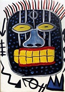 Head - Oil On Paper - Jeanmichel Basquiat