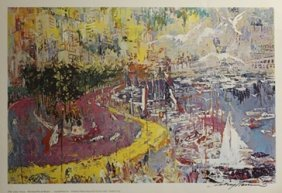 Print The Grand Prix De Monaco - Leroy Neiman