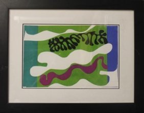 "Lithograph ""lagoons"" After Henri Matisse"