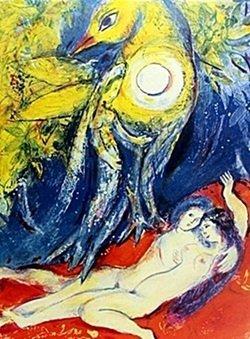 Lithograph By Marc Chagall- Arabian Nights