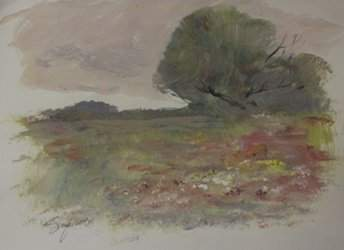 "Original Watercolor on Paper ""Open Fields"" by Michael"