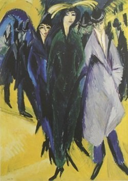 Lithograph Woman In The Street - Ernst L. Kirchner