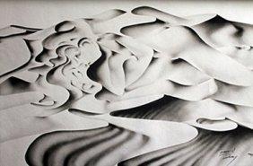 Lithograph Viva Nuevo - David Dory