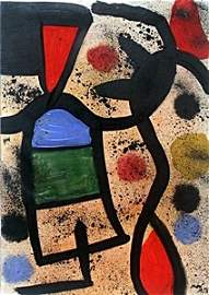El Pensador - Oil Painting on Paper - Joan Miro