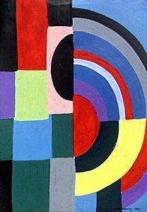Discs - Oil Painting - Sonia Delaunay