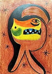The Animal - Pastel / Oil on Paper - Joan Miro