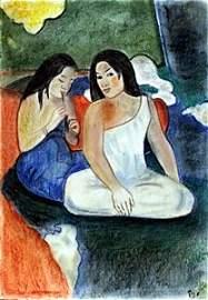 Two Woman in Tahiti - P. Gauguin