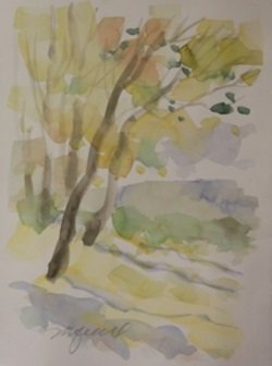 "Original Watercolor on Paper ""Falls First Colors"" by"