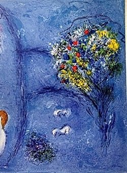 Lithograph by MARC CHAGALL- The Nymphs' Cave Part 2