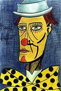 The Clown V - Pastel on Paper - Bernard Buffet