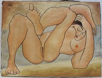 """Oil Painting """"13.7.67"""" after Pablo Picasso"""