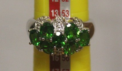 Beautiful Ring with Chrome Dioxide and Diamond