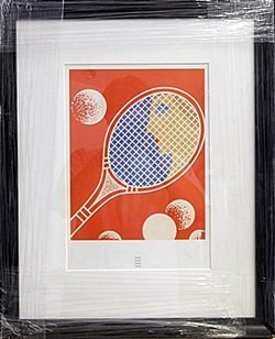 """Lithograph out of the book """"Tennis"""" by Erte"""