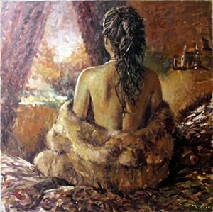 Nancy - Original Oil Painting by Jorn Fox