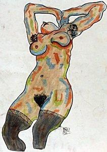 Portrait of Gerti 1910' - Egon Schiele