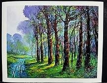 "Lithograph ""Dirt Road"" after Michael Schofield"