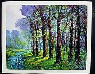 """Lithograph """"Dirt Road"""" after Michael Schofield"""
