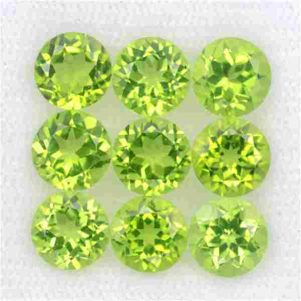 Peridot Gemstone 6x6mm Round Cut Loose 15 Pieces Lot