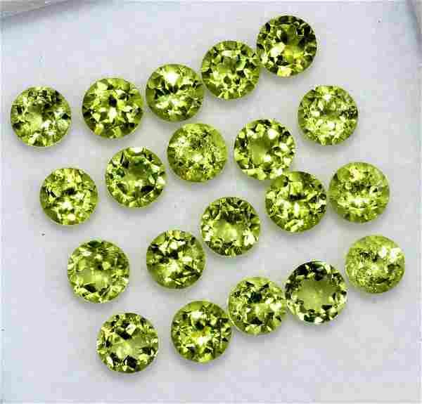Natural Green Peridot 5 MM Round Cut Loose Gemstone Lot