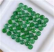 Natural Emerald 2 MM Round Cut Green Loose Gemstone Lot