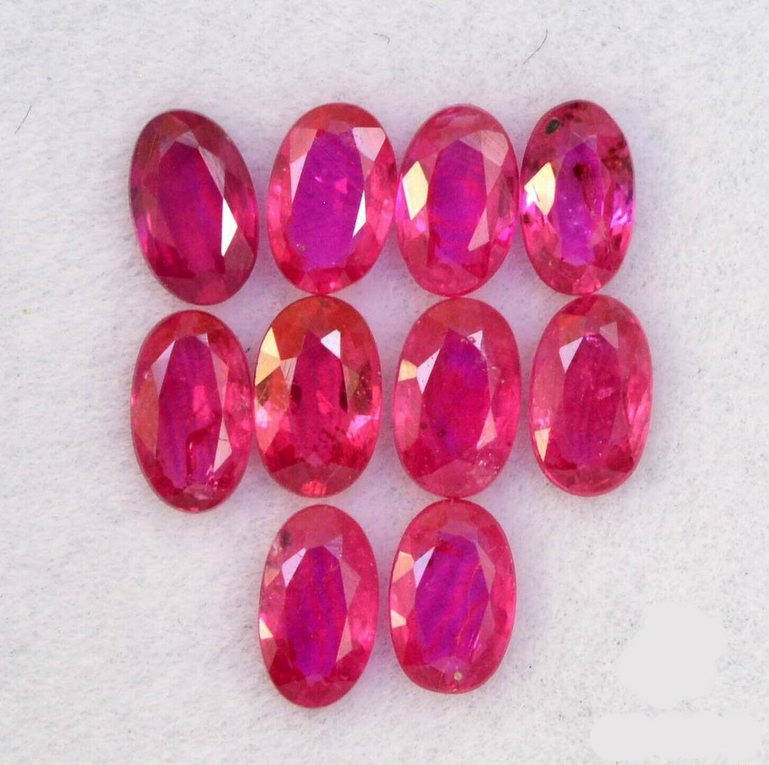 Natural Red Ruby 7x5 MM Oval Cut Loose Gemstone Lot