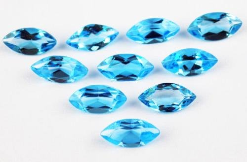 Natural Blue Topaz 6x3 MM Marquise Cut Loose Gemstone