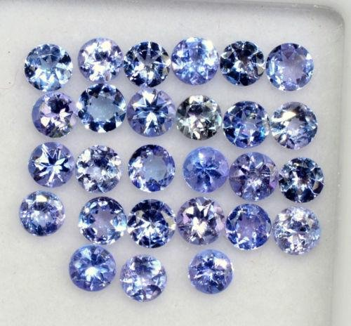 Natural Voilet Tanzanite 3 MM Round Cut Loose Gemstone