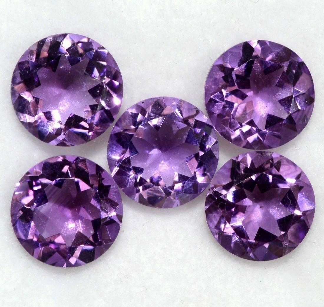 Natural Purple Amethyst 11 MM Round Cut Loose Gemstone
