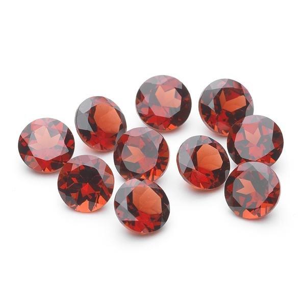 Natural Red Garnet 5 MM Round Cut Loose Gemstone Lot