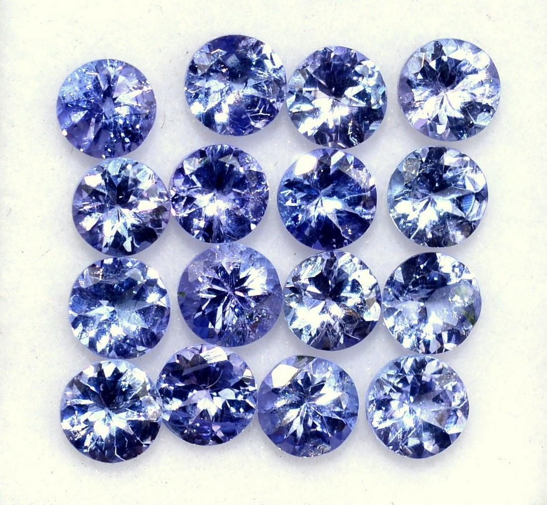 Natural Voilet Tanzanite 4 MM Round Cut Loose Gemstone