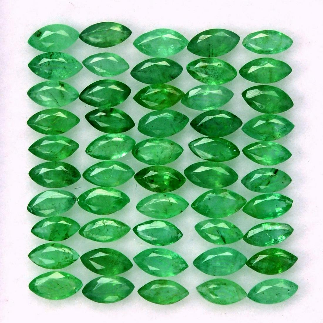 Natural Emerald 2x4 MM Marquise Cut Green Loose