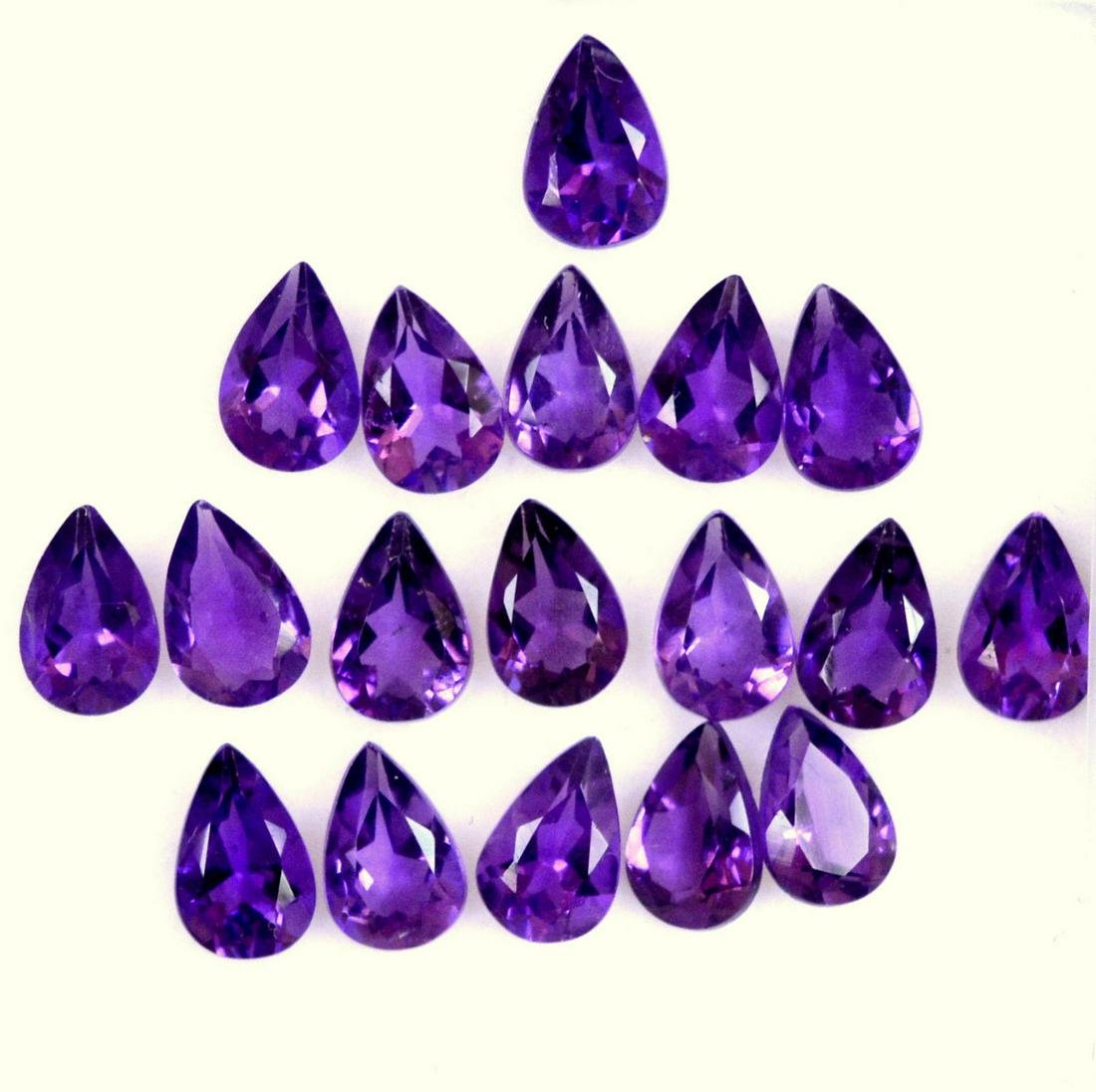 Natural Purple Amethyst 6x4 MM Pear Cut Loose Gemstone