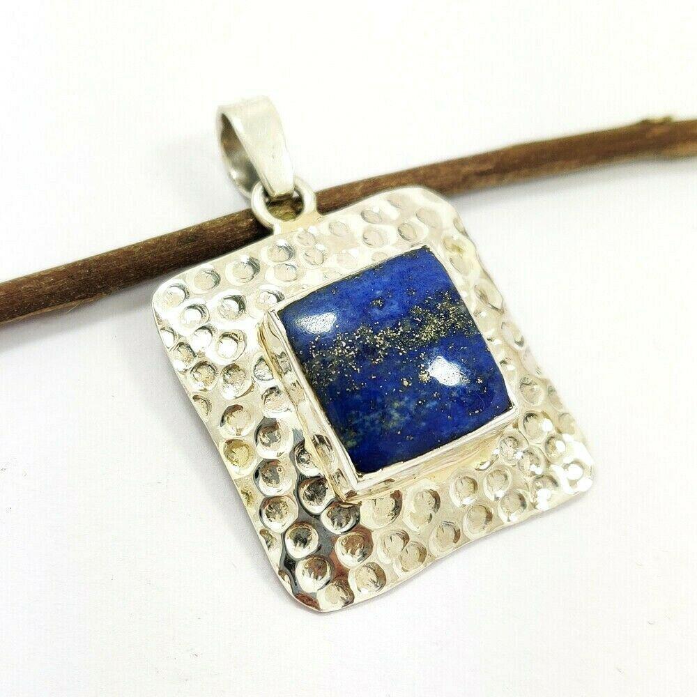 Beautiful Natural Lapis Lazuli Handmade 92.5 Sterling