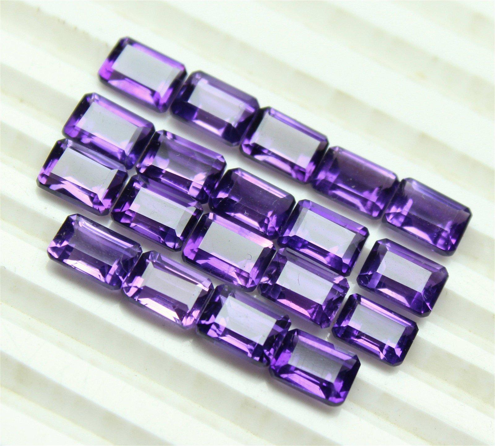 Natural Purple Amethyst 7x5 MM Octagon Cut Loose